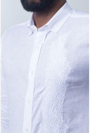 Camisa-casual-masculina-slim-cambraia-de-linho-branco-f01917s-detalhe1