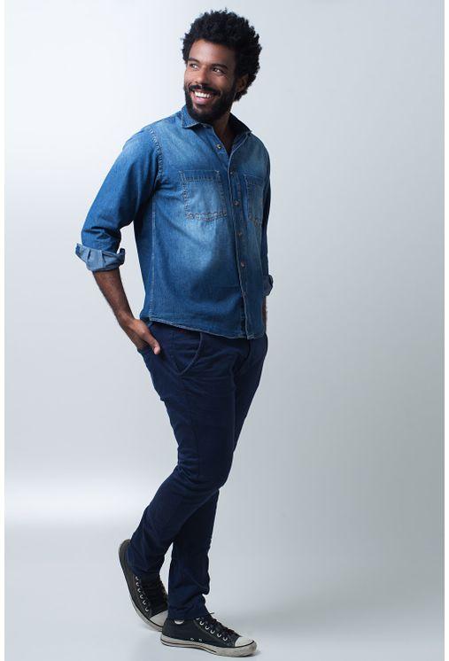 Camisa-casual-masculina-tradicional-jeans-azul-f01818a172-frente