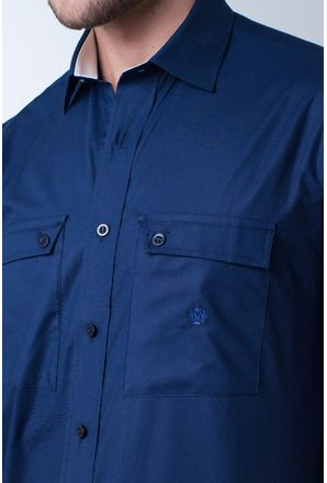 Camisa-casual-masculina-tradicional-algod-o-fio-50-azul-escuro-f01948a-detalhe1