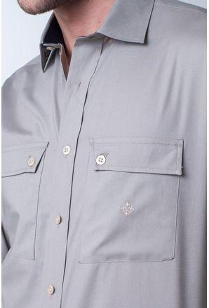 Camisa-casual-masculina-tradicional-algod-o-fio-50-marrom-f01948a-detalhe1
