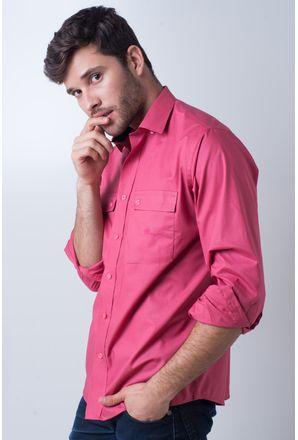 Camisa-casual-masculina-tradicional-algod-o-fio-50-rosa-f01948a-frente