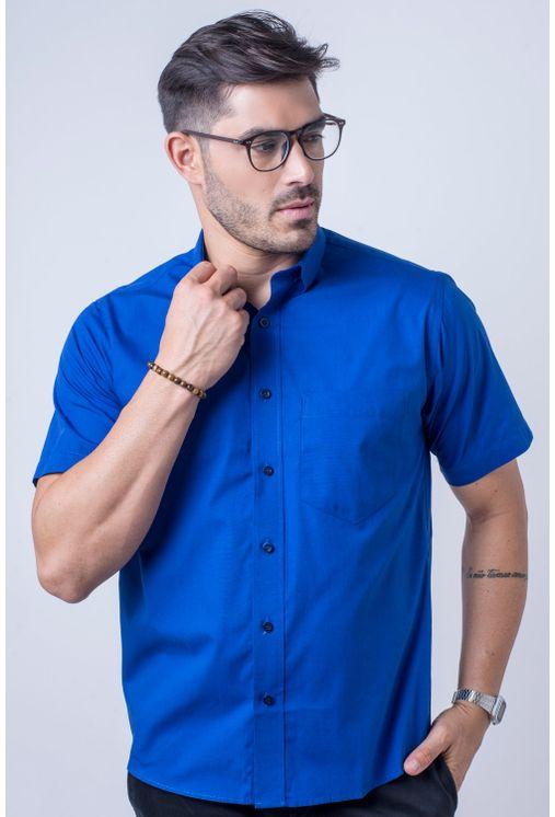 Camisa-b-sica-masculina-tradicional-algod-o-fio-40-azul-f09903a-frente