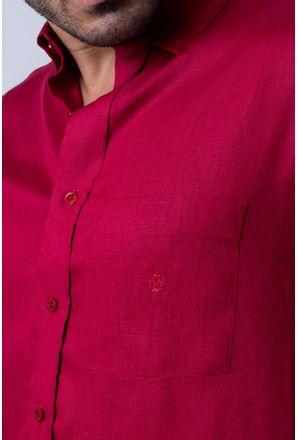 Camisa-casual-masculina-puro-linho-tradicional-vermelho-f03943a-detalhe1