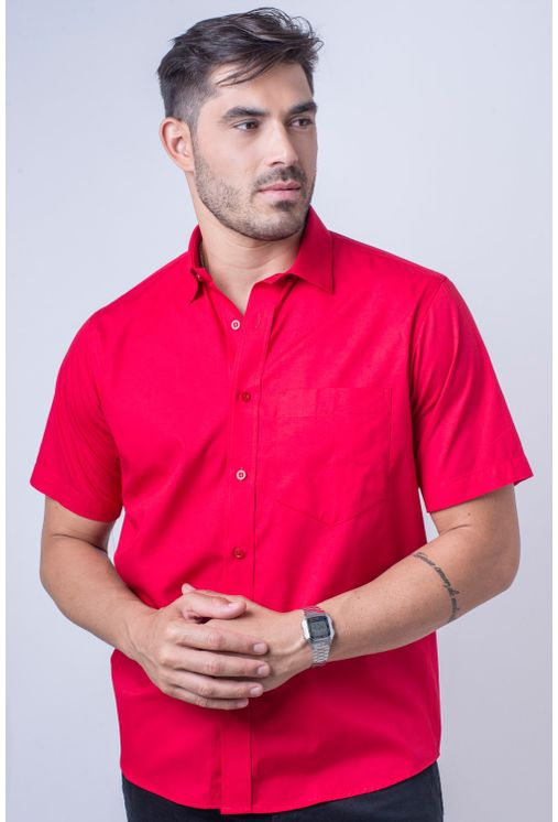 Camisa-b-sica-masculina-tradicional-algod-o-fio-40-vermelho-f09903a-frente