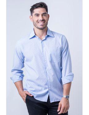 cc70b54b99 Camisaria Fascynios Oficial · KITS · Ponta de Estoque 2. Camisa casual  masculina tradicional passa fácil azul claro f05694a 01 ...