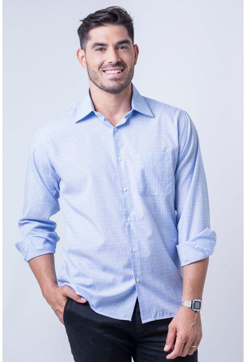 Camisa-casual-masculina-tradicional-algod-o-azul-claro-f05694a-frente