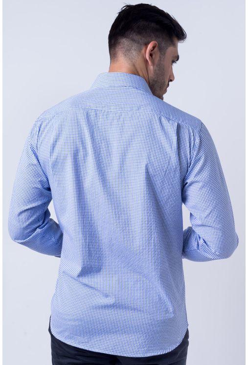 Camisa-casual-masculina-tradicional-algod-o-azul-escuro-f05698a-frente
