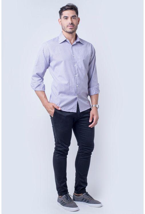 Camisa-casual-masculina-tradicional-algod-o-roxo-f05695a-detalhe2
