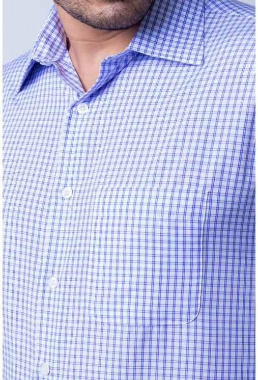 Camisa-casual-masculina-tradicional-algod-o-azul-escuro-f05695a-frente