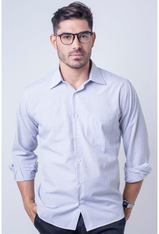 Camisa-casual-masculina-tradicional-algod-o-cinza-f05694a-frente