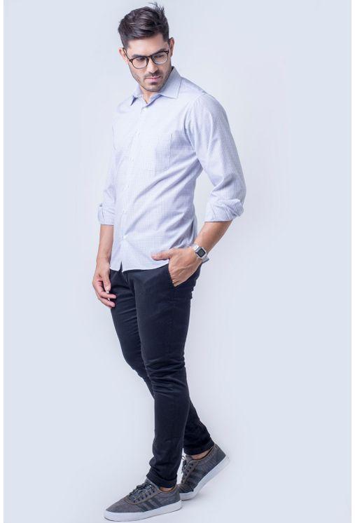 Camisa-casual-masculina-tradicional-algod-o-cinza-f05694a-detalhe2