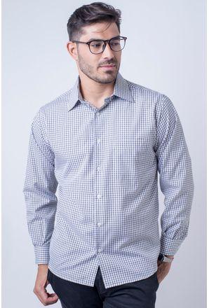 Camisa-casual-masculina-tradicional-algod-o-preto-f05695a-frente