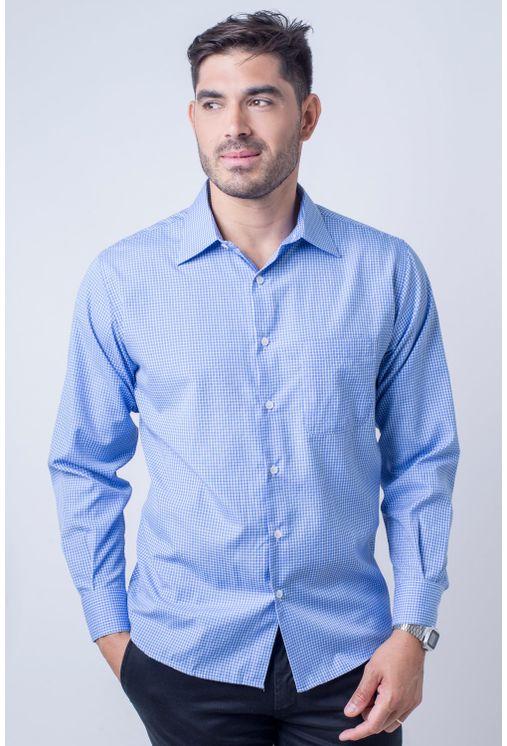 Camisa-casual-masculina-tradicional-algod-o-azul-f05698a-frente