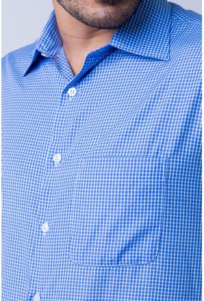 Camisa-casual-masculina-tradicional-algod-o-azul-f05698a-detalhe1