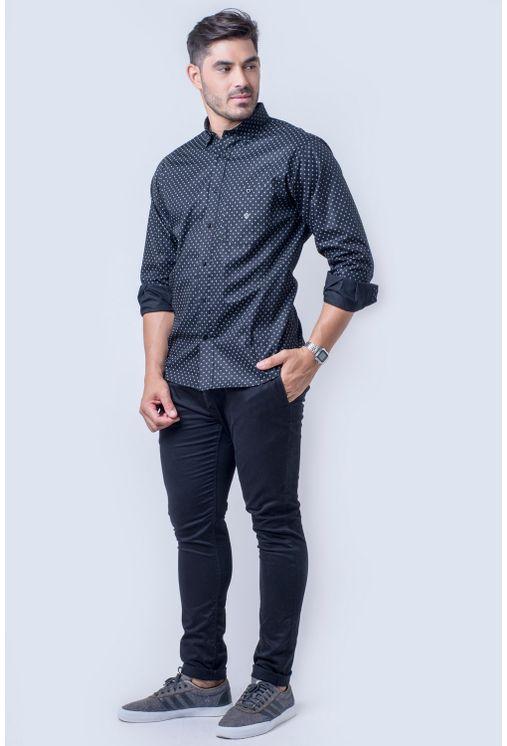 Camisa-casual-masculina-tradicional-algod-o-fio-40-preto-f01868a-detalhe2