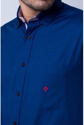 Camisa-casual-masculina-tradicional-algod-o-azul-escuro-f01755a-detalhe1