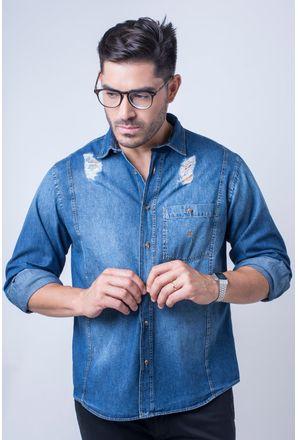 Camisa-casual-masculina-tradicional-jeans-azul-f01823a-frente