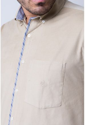 Camisa-casual-masculina-tradicional-veludo-bege-f01529a-detalhe1
