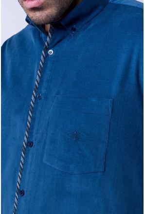 Camisa-casual-masculina-tradicional-veludo-azul-escuro-f01529a-detalhe1