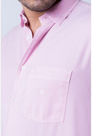 Camisa-casual-masculina-tradicional-tencel-rosa-f06020a-detalhe1