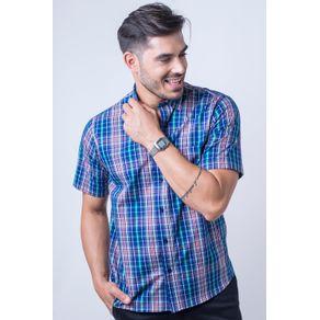 Camisa-casual-masculina-tradicional-algod-o-fio-50-azul-f04337a-frente