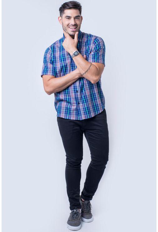 Camisa-casual-masculina-tradicional-algod-o-fio-50-azul-f04337a-detalhe2