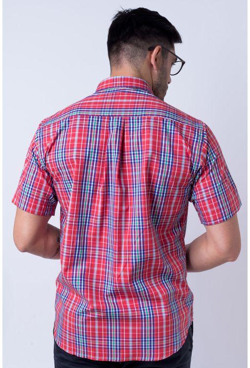 Camisa-casual-masculina-tradicional-algod-o-fio-50-vermelho-f04337a-verso