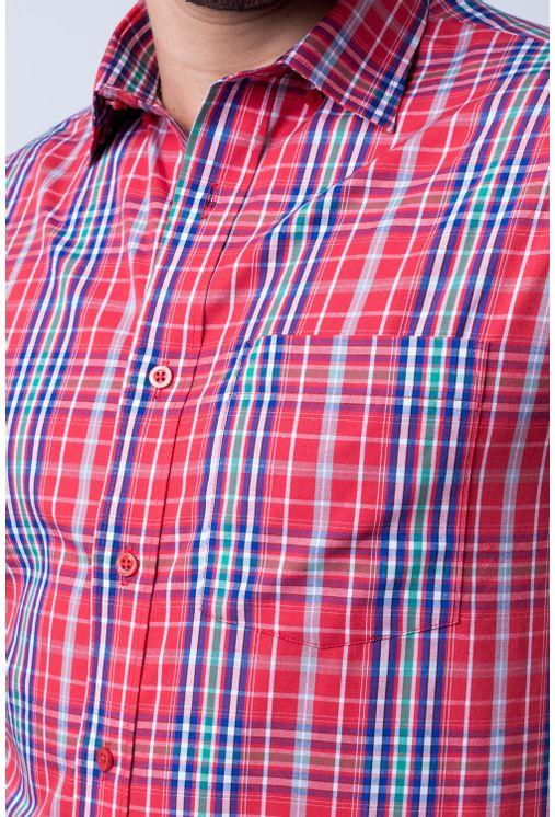 Camisa-casual-masculina-tradicional-algod-o-fio-50-vermelho-f04337a-detalhe1