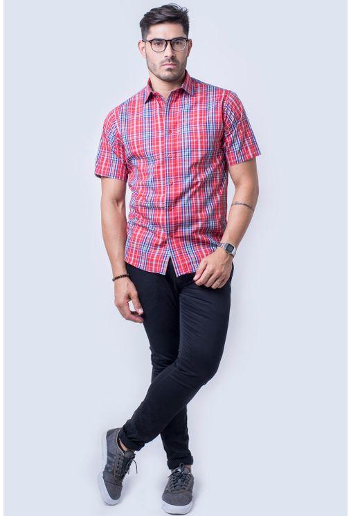 Camisa-casual-masculina-tradicional-algod-o-fio-50-vermelho-f04337a-detalhe2