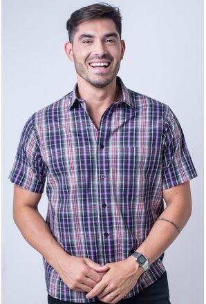 Camisa-casual-masculina-tradicional-algod-o-fio-50-preto-f04337a-frente