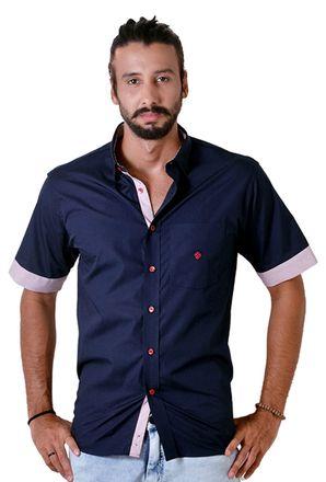 Camisa-casual-masculina-tradicional-algodao-fio-50-azul-escuro-f01425a-1