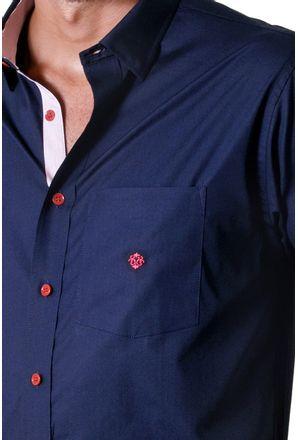 Camisa-casual-masculina-tradicional-algodao-fio-50-azul-escuro-f01425a-3
