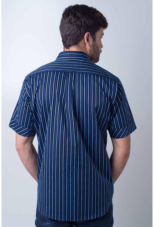 Camisa-casual-masculina-tradicional-algodao-fio-80-azul-escuro-f01421a-1
