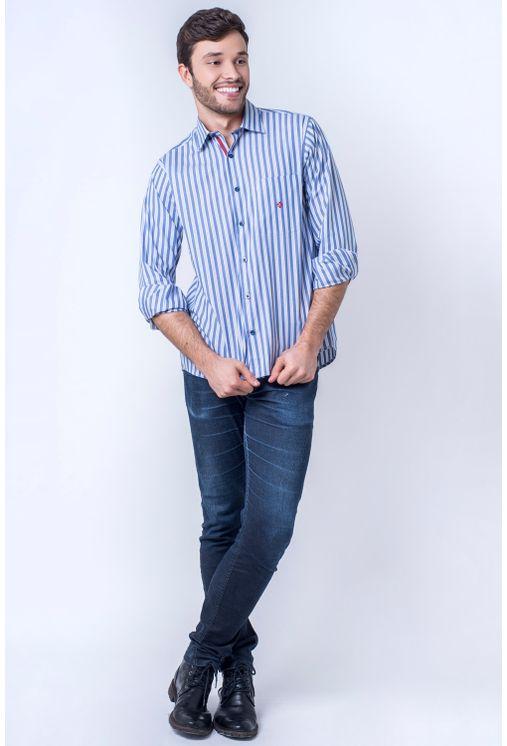 Camisa-casual-masculina-tradicional-algodao-fio-50-azul-medio-f01177a-1