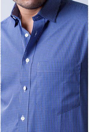 Camisa-casual-masculina-tradicional-algodao-fio-50-azul-escuro-f04387a-3