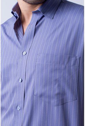 db62cf9ded Camisa casual masculina tradicional algodão fio 50 roxo f05196a - Camisaria  Fascynios Oficial