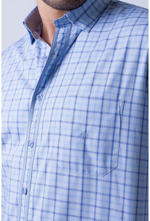 Camisa-casual-masculina-tradicional-algodao-fio-50-azul-f01412a-1
