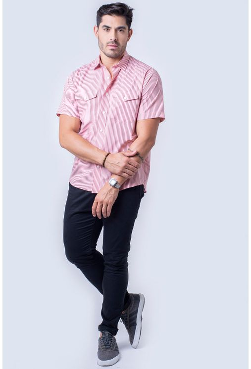 Camisa-casual-masculina-tradicional-fio-50-rosa-f06119a-1