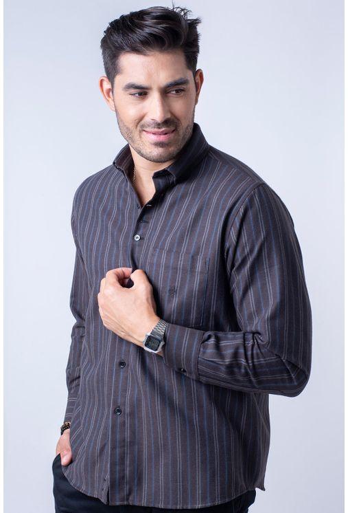 Camisa-casual-masculina-tradicional-flanela-marrom-f01100a-1