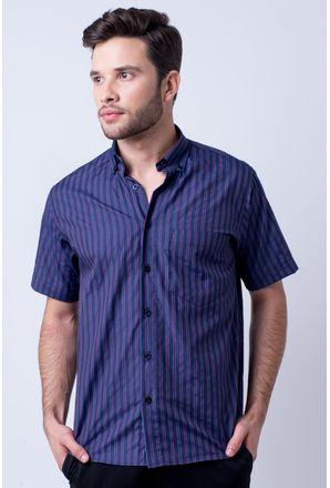 Camisa-casual-masculina-tradicional-algodao-misto-roxo-f07422a-1