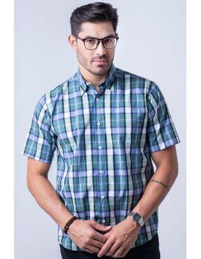 5aff038041 Camisaria Fascynios Oficial · KITS · 2 Camisas Xadrez. Camisa casual  masculina tradicional algodão fio 50 verde f04200a 01 ...