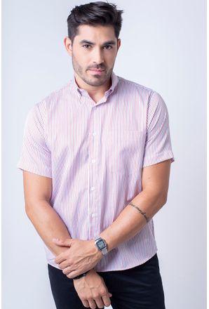 Camisa-casual-masculina-tradicional-algodao-misto-vermelho-f07463a-1