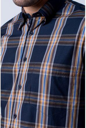 Camisa-casual-masculina-tradicional-algodao-fio-50-preto-f03225a-3