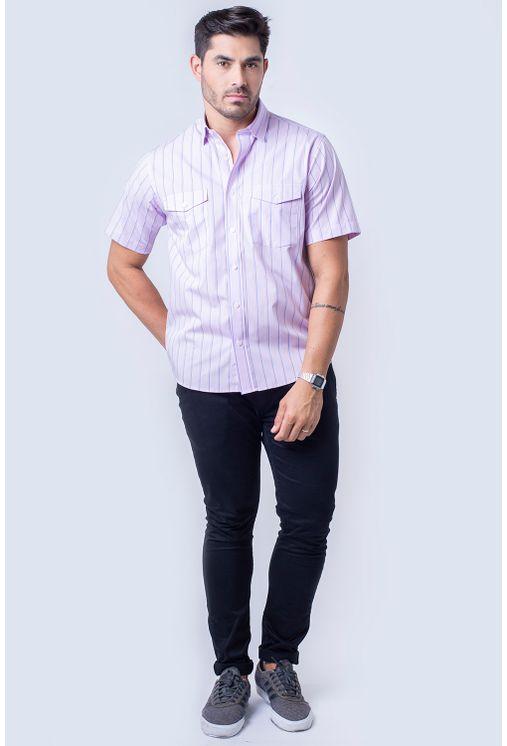 Camisa-casual-masculina-tradicional-fio-50-rosa-f06119a-CM01F06119ATF50C102-4