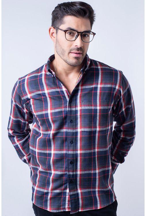 Camisa-casual-masculina-tradicional-flanela-vermelho-f05690a-1