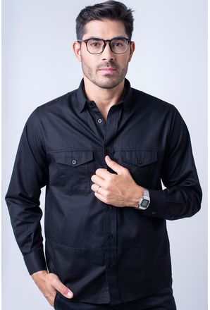 Camisa-casual-masculina-tradicional-sarjada-preto-f01695a-1