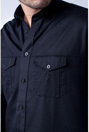 Camisa-casual-masculina-tradicional-sarjada-preto-f01695a-3