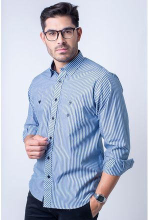 Camisa-casual-masculina-tradicional-algodao-fio-50-azul-f01410a-1