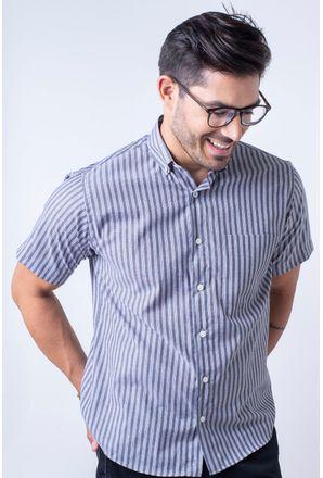 Camisa-casual-masculina-tradicional-algodao-misto-preto-f07463a-1