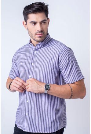 Camisa-casual-masculina-tradicional-algodao-misto-roxo-f07463a-1